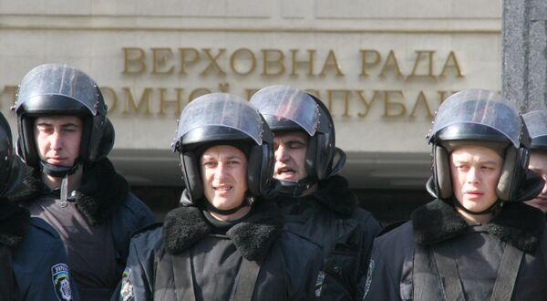 Сотрудники украинского ОМОНа. Архив