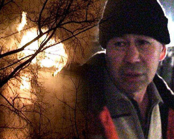 Крупный пожар уничтожил четырехэтажное здание в центре Москвы