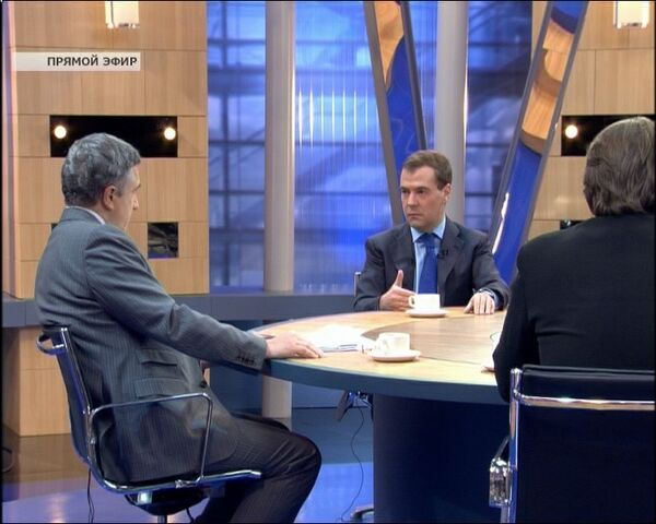 Дмитрий Медведев подвел итоги в эфире трех российских телеканалов