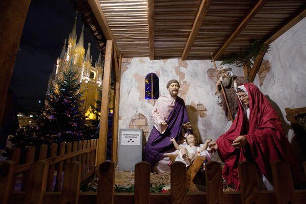 Ночное богослужение в Римско-католическом кафедральном соборе Непорочного Зачатия Пресвятой Девы Марии
