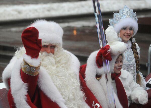 Дед Мороз и Снегурочка. Архив