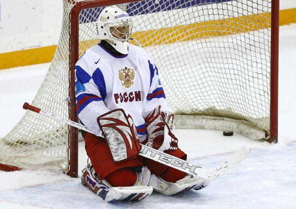 Голкипер молодежной сборной России по хоккею Игорь Бобков