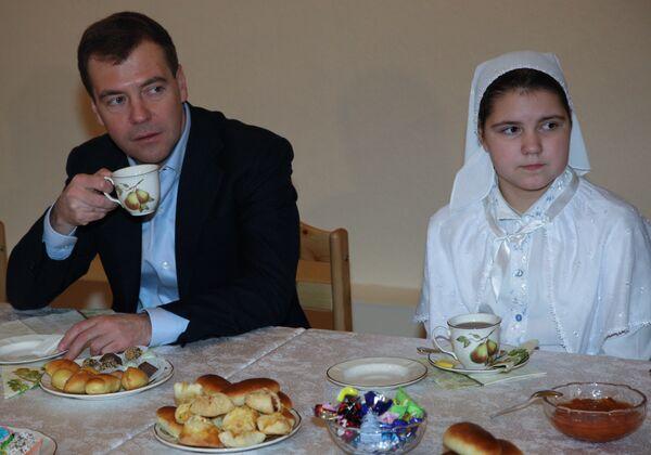 Д.Медведев посетил храм святого великомученика Георгия Победоносца в подмосковном городе Видное