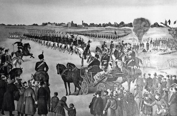 Вступление русских войск в Варшаву