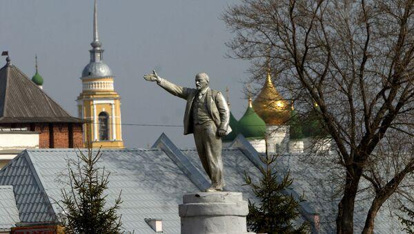 Памятник Ленину в Коломне отправлен на реставрацию, а не украден