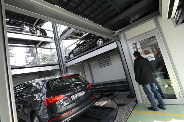 Многоэтажный автоматизированный паркинг. АРхив