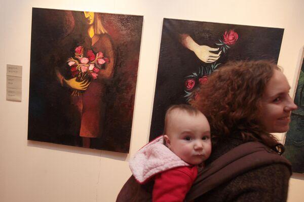 Картина Продавщица цветов художника Александра Айзенштата