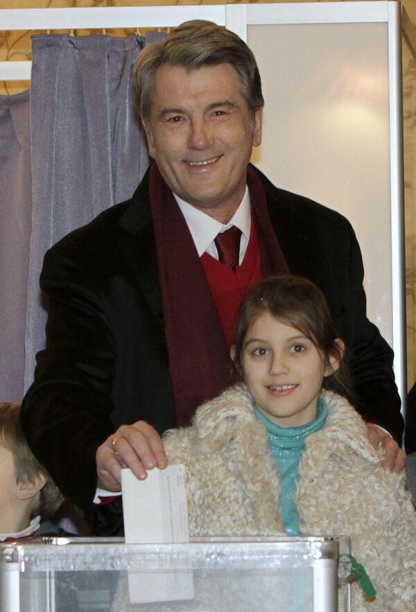 Виктор Ющенко на выборах президента Украины