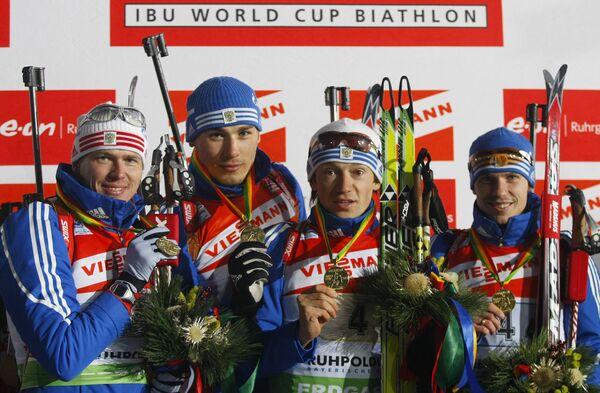 Иван Черезов, Антон Шипулин, Максим Чудов и Евгений Устюгов (слева направо). Архив