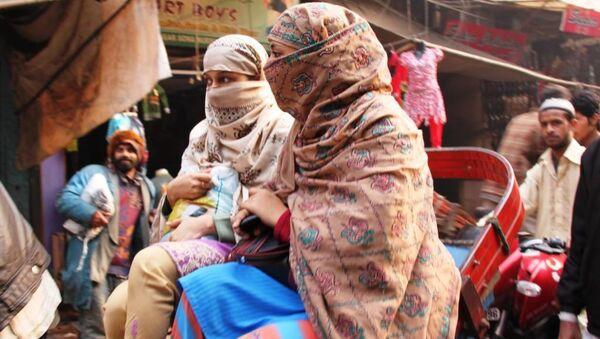 Мусульманки в Индии.