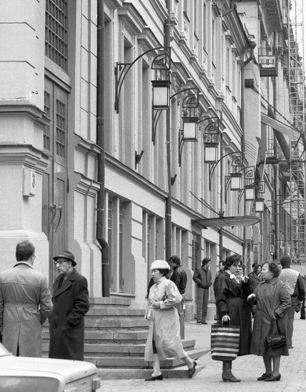 Отреставрированное здание МХАТ им.Чехова. 1988 год