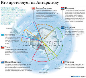 Какие страны претендуют на территории на  Антарктиды