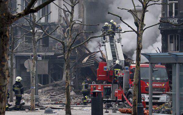 Здание рухнуло в центре Льежа
