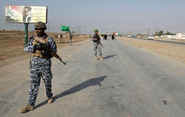 Иракские военные в Багдаде, где произошел теракт