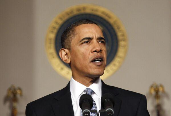 Барак Обама на представлении конгрессу бюджета-2011