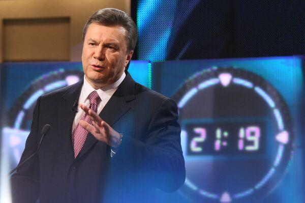 Выступление Виктора Януковича на телеканале ICTV