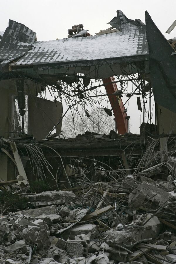 Снос домов в поселке Речник. Архив