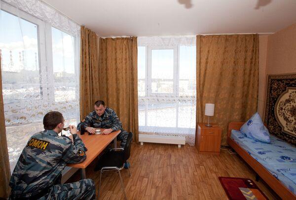 Общежитие для бойцов ОМОНа в Москве. Архив