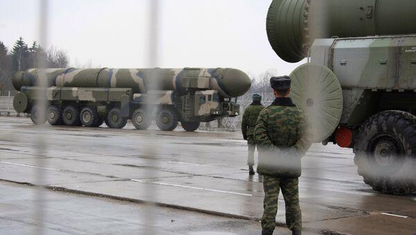 Ракетный комплекс стратегического назначения Тополь. Архивное фото.