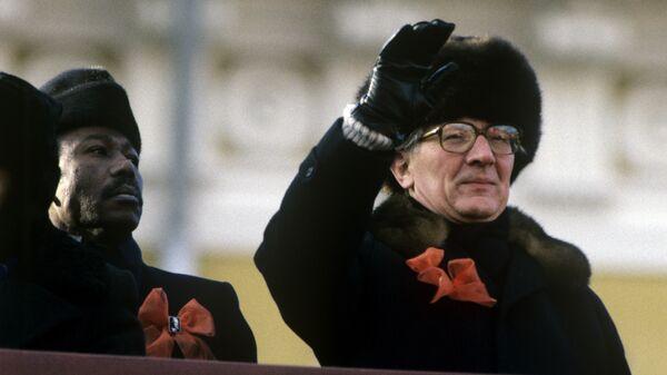 Генеральный секретарь ЦК СЕПГ, Председатель Государственного совета ГДР Эрих Хонеккер. Архивное фото