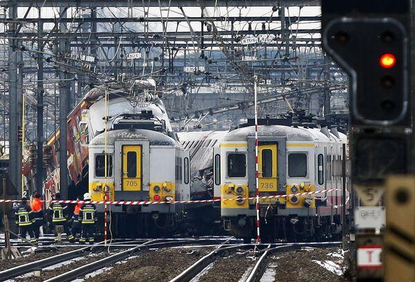 Столкновение поездов в Брюсселе