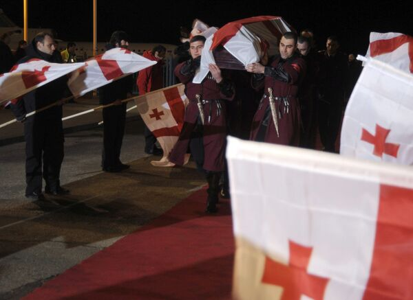 Похороны грузинского саночника Нодар Кумариташвили