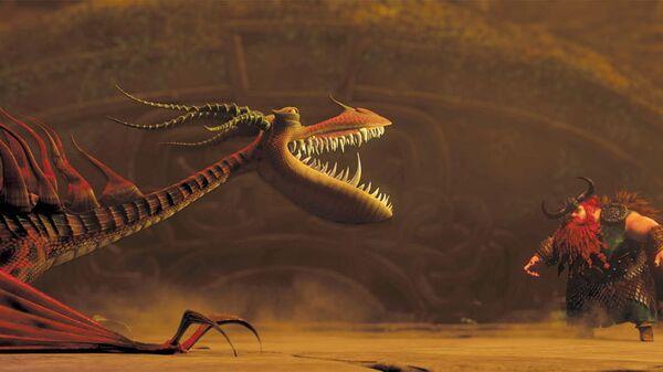 Кадры из анимационного фильма Как приручить дракона