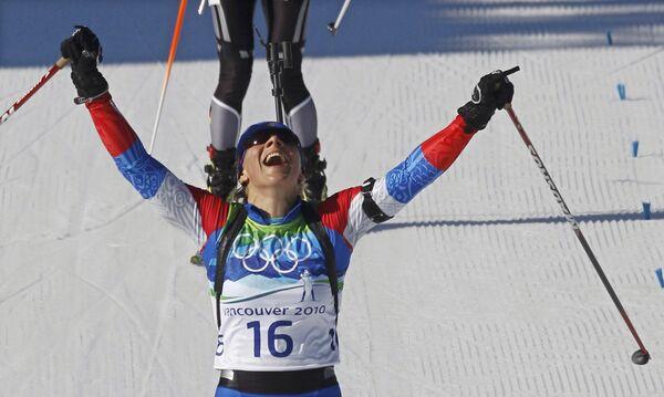 Ольга Зайцева финиширует второй