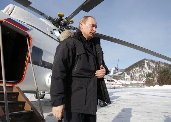 Рабочая поездка премьер-министра РФ Владимира Путина в Республику Хакасия