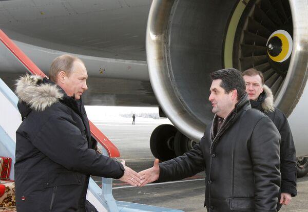 Премьер-министр РФ Владимир Путин прибыл в Тюмень