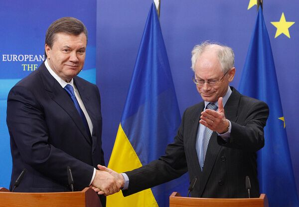 Виктор Янукович и Херман ван Ромпей