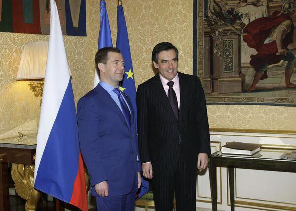 Президент РФ Д.Медведев провел встречу с премьер-министром Франции Франсуа Фийоном