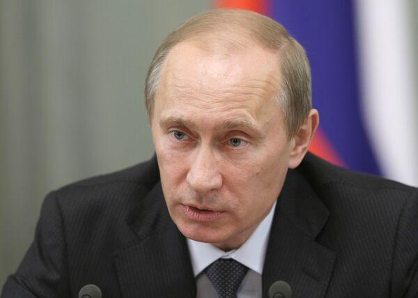 Премьер-министр России Владимир Путин. Архив.