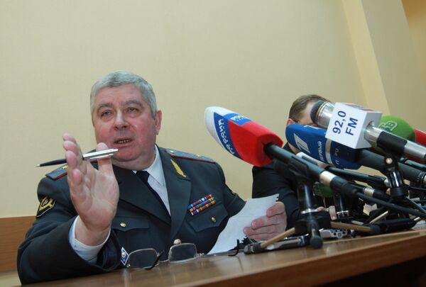 Глава ГИБДД по Москве генерал Сергей Казанцев. Архив