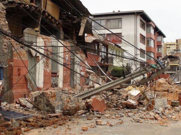 Разрушенный землетрясением город Консепсьон в Чили
