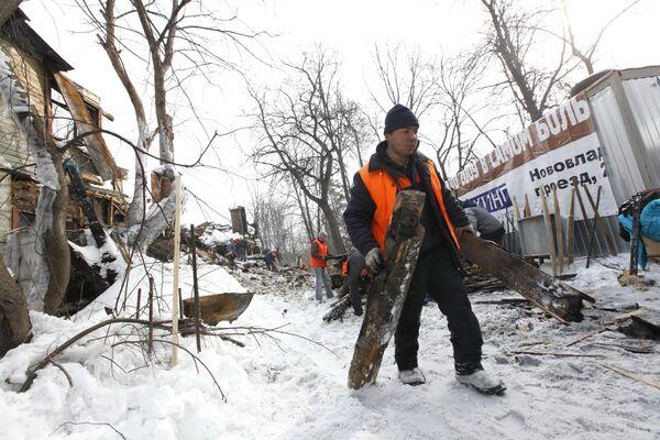 Снос строения на месте дачи Муромцева в Царицыно