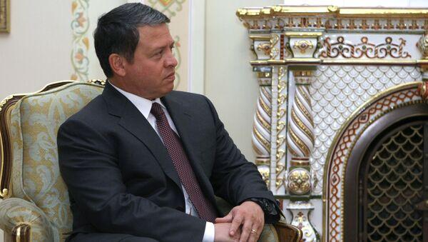 Король Иордании Абдалла II во время визита в Россию