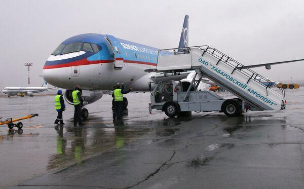 Презентация нового гражданского самолета Sukhoi SuperJet-100