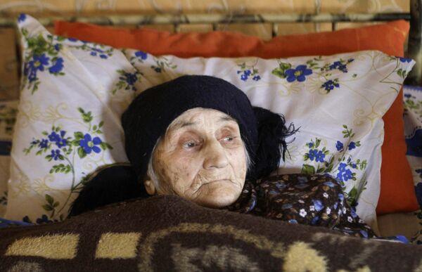 129-летняя Антисе Хвичава из горного села Сачино