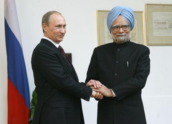 Рабочий визит премьер-министра РФ Владимира Путина в Республику Индия
