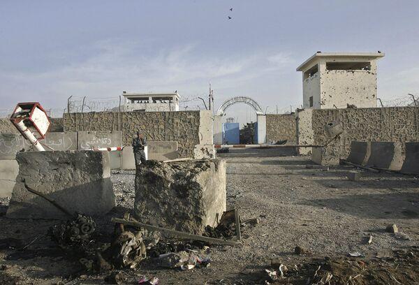 Место взрыва у дома главы полиции Кандагара