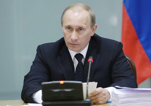 Рабочий визит премьер-министра РФ Владимира Путина в Республику Беларусь. Архив