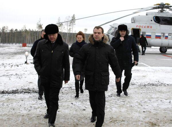 Дмитрий Медведев посетил Западно-Сахалинское нефтяное месторождение