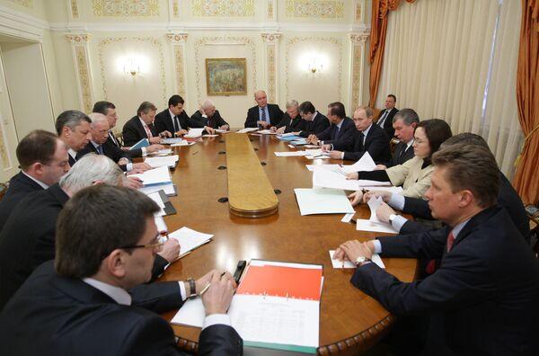 Встреча премьер-министров РФ и Украины В.Путина и Н.Азарова