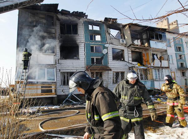 Взрыв газа в жилом доме в Подмосковье