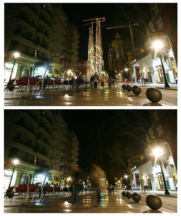 Акция Час Земли прошла в Барселоне