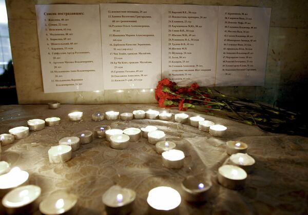 Акцию памяти жертв теракта в московском метрополитене провели студенты студенты Казани