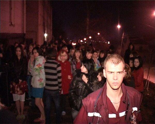 Эвакуация студентов Ставропольского Кооперативного техникума