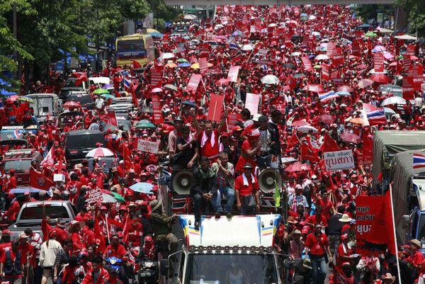 Митинг оппозиции в центре Бангкока
