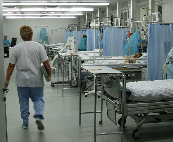 Реанимационное отделение больницы. Архив